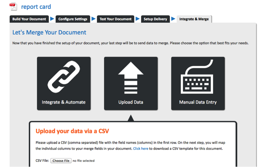 Image of WebMerge Upload Data as CSV