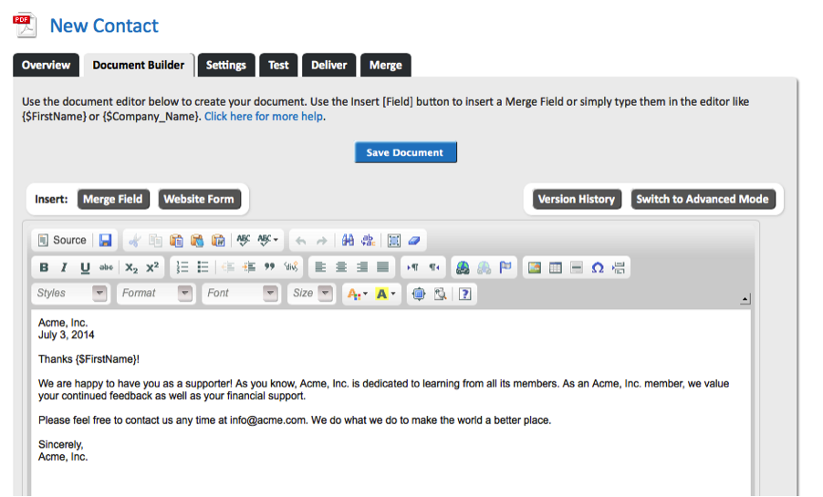 Image of WebMerge Document Builder