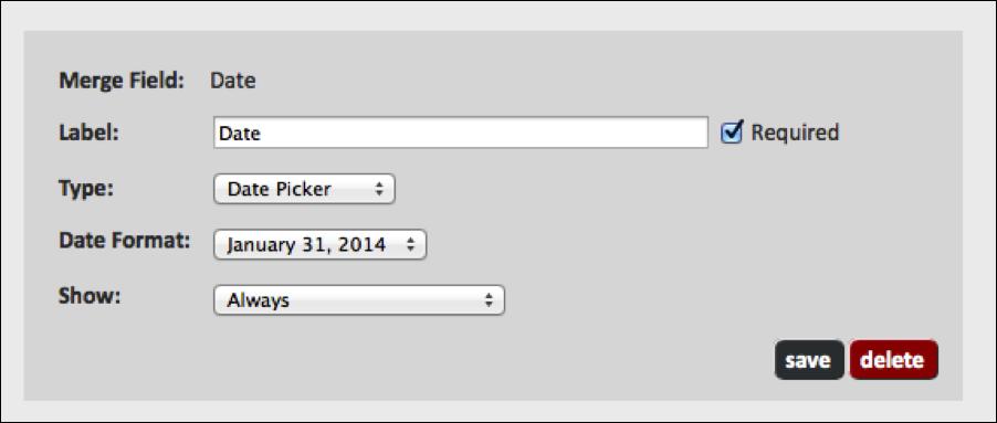 WebMerge Form Inputs Editor