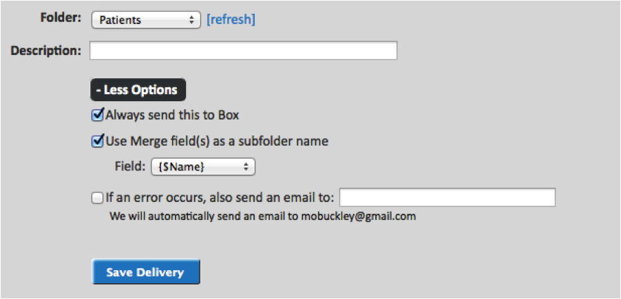 WebMerge box folder configuration