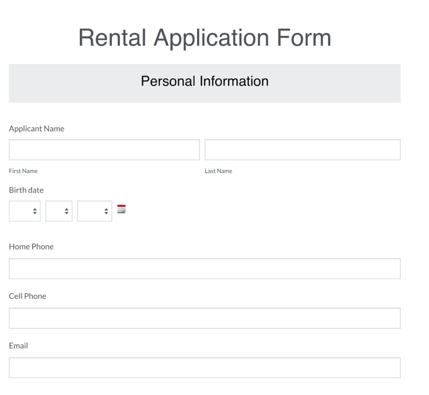 Rental Applicatio
