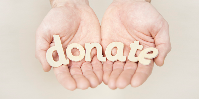 how to take donations online